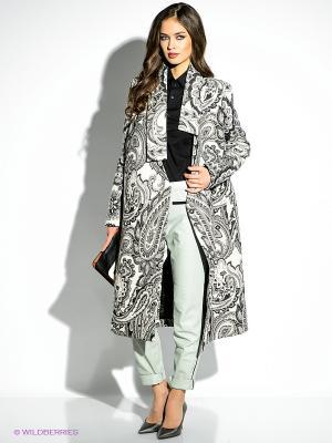 Пальто Just Cavalli. Цвет: молочный, черный