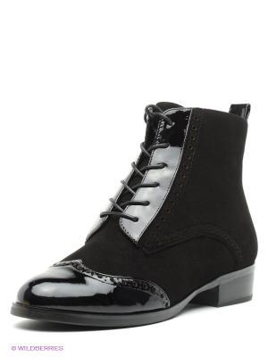 Ботинки Moda Donna. Цвет: черный