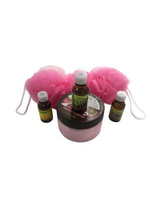 Набор подарочный Банное удовольствие PROFFI. Цвет: розовый