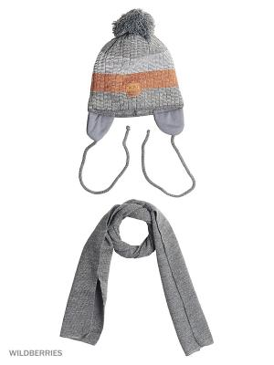 Шапка и шарф Agbo. Цвет: серый