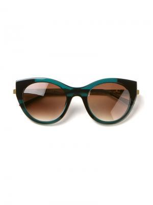 Солнцезащитные очки Sobriety Thierry Lasry. Цвет: зелёный