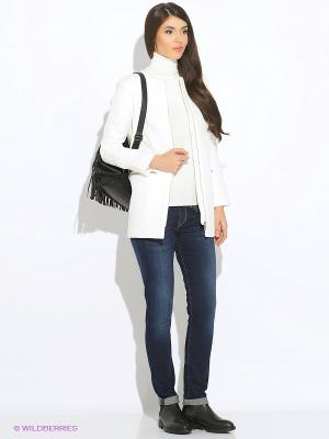 Пальто Oodji. Цвет: белый
