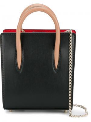 Миниатюрная сумка Paloma через плечо Christian Louboutin. Цвет: чёрный