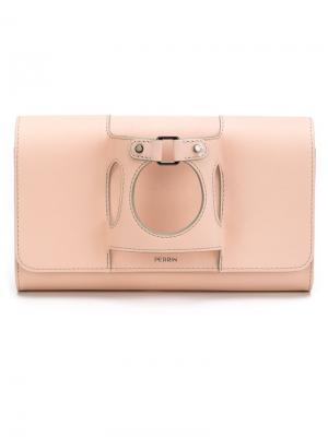 Клатч с ручкой-перчаткой Perrin Paris. Цвет: розовый и фиолетовый