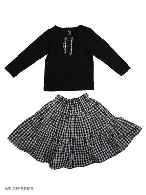 Джемпер и юбка Gleoite Wardrobe. Цвет: белый, черный