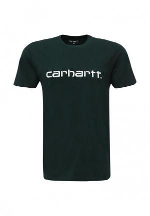 Футболка Carhartt. Цвет: зеленый