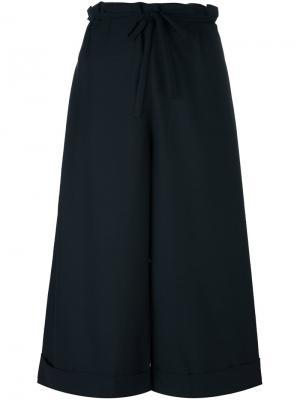 Укороченные широкие брюки Daniela Gregis. Цвет: синий