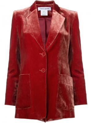 Бархатный пиджак Velvet Bianca Spender. Цвет: красный
