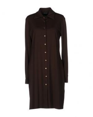 Короткое платье FISICO-CRISTINA FERRARI. Цвет: темно-коричневый