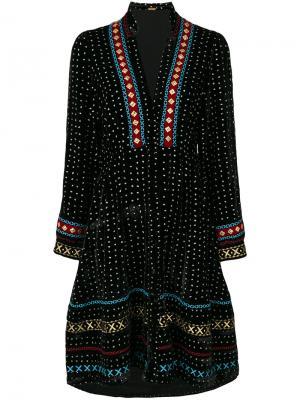 Платье с вышивкой Kim Dodo Bar Or. Цвет: чёрный