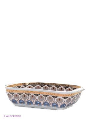 Шубница Калейдоскоп Elan Gallery. Цвет: синий, серый, золотистый, белый