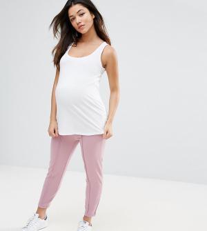 ASOS Maternity Джоггеры-сигареты. Цвет: розовый
