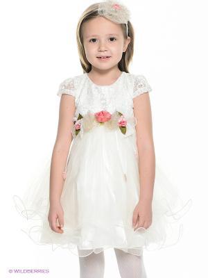 Платье Baby Rose. Цвет: белый