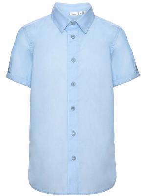 Рубашка NAME IT. Цвет: светло-голубой