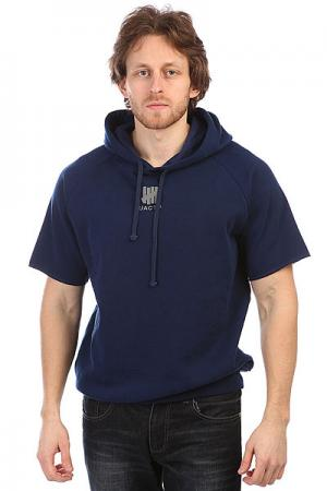 Толстовка жилетка  Tech Fleece Hood Navy Undefeated. Цвет: синий