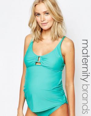 Ripe Топ-танкини для будущих мам Maternity Hayman. Цвет: синий