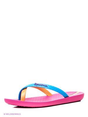 Шлепанцы Ipanema. Цвет: голубой, розовый, желтый