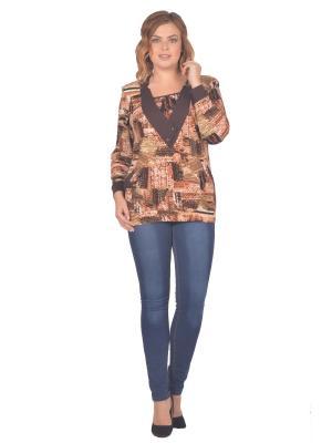 Кофточка Томилочка Мода ТМ. Цвет: темно-коричневый, коричневый, светло-коричневый