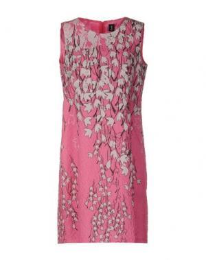 Короткое платье 1-ONE. Цвет: розовый