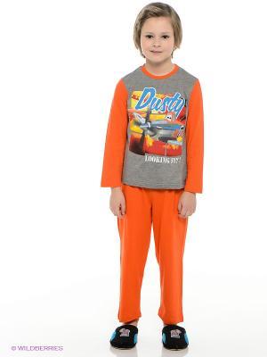 Пижама Sun City. Цвет: оранжевый, серый