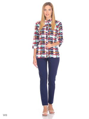 Рубашка Magwear. Цвет: темно-синий, красный, серый