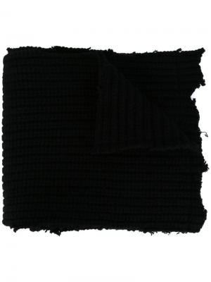 Шарф с логотипом Raf Simons. Цвет: чёрный