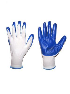 Перчатки садовые, 2 шт DiMi. Цвет: синий