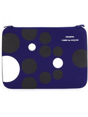 Клатч с узором в горох Comme Des Garçons Wallet. Цвет: чёрный