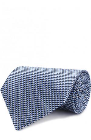 Шелковый галстук Ermenegildo Zegna. Цвет: голубой
