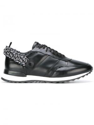 Кроссовки с эластичной пряжкой Oamc. Цвет: чёрный