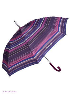 Зонты Isotoner. Цвет: белый, фиолетовый, розовый