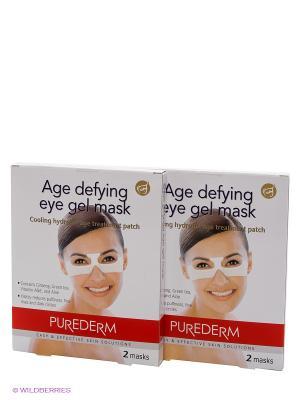 Антивозрастная гелевая маска для глаз, 2 шт. Purederm. Цвет: белый