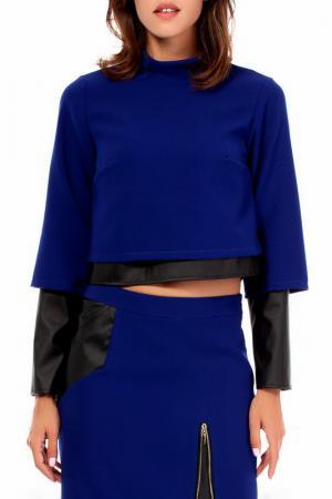 Блуза BeWear. Цвет: синий
