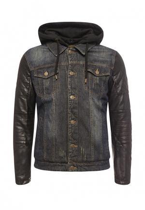 Куртка джинсовая Young & Rich. Цвет: синий