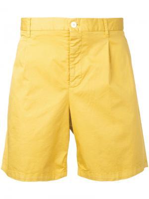 Шорты-чинос Kent & Curwen. Цвет: жёлтый и оранжевый