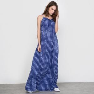 Платье длинное R édition. Цвет: набивной рисунок