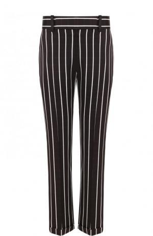Укороченные брюки из вискозы в полоску Haider Ackermann. Цвет: черно-белый