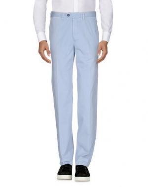 Повседневные брюки LUIGI BIANCHI Mantova. Цвет: небесно-голубой