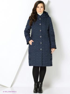 Стеганое пальто Brillare. Цвет: темно-синий