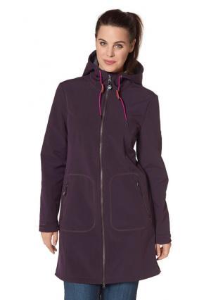 Спортивная куртка POLARINO. Цвет: цвет баклажана, черный
