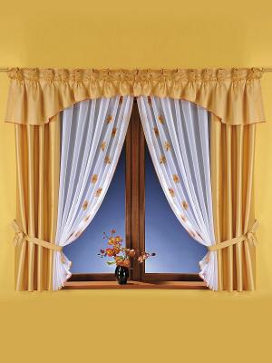 Комплект штор Wisan. Цвет: желтый