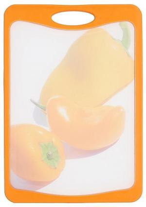 Доска разделочная Frybest. Цвет: зеленый (зеленый, белый), оранжевый (оранжевый, белый)