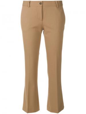 Укороченные брюки клеш Alberto Biani. Цвет: коричневый