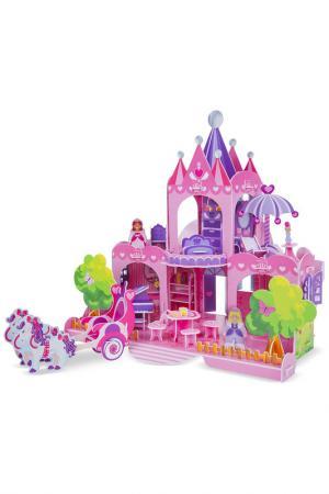 ПазлКукольный домик 3Д Melissa & Doug. Цвет: розовый, белый