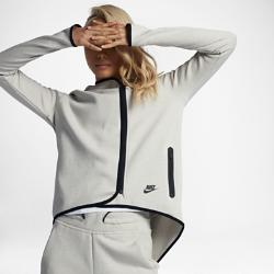Женский кейп с молнией во всю длину  Sportswear Tech Fleece Nike. Цвет: кремовый