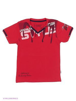 Футболка BAHAMAX. Цвет: красный