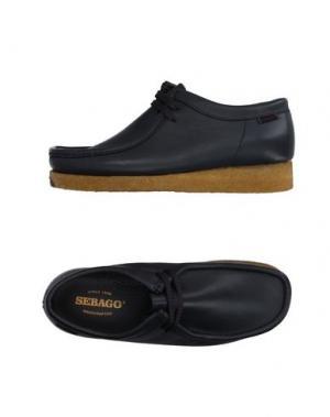 Обувь на шнурках SEBAGO. Цвет: свинцово-серый