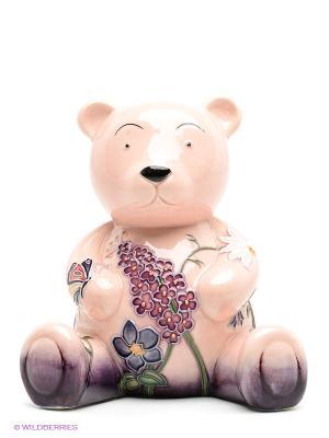 Копилка Мишка Pavone. Цвет: бледно-розовый, фиолетовый