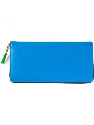 Кошелёк с круговой молнией Comme Des Garçons Wallet. Цвет: синий
