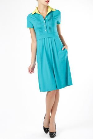 Платье ELLEN EISEMANN. Цвет: голубой